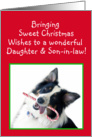 Australian Shepherd Sweet Christmas, Daughter and Son-in-law card