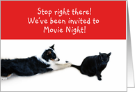 Stop right there! Movie Night card