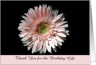 Pink Daisy, Birthday Thank you card