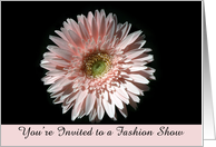 Pink Daisy, Fashion Show Invite card