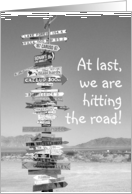Road Signs Highway, Hitting the Road card
