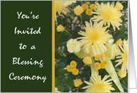 Yellow Flower Invitation, Blessing Ceremony card