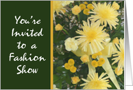 Yellow Flower Invitation, Fashion Show card
