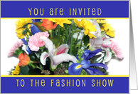 Floral Bouquet Invitation, Fashion Show card