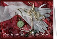 Gloves and Pearls, Fashion Show card