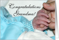 Baby Hands with Mama, Congratulations Grandma card
