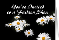 Yellow Daisies on Black, Fashion Show Invitation card