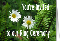 Flowers and Ferns, Ring Ceremony Invite card