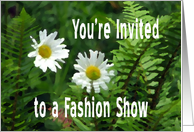 Flowers and Ferns, Fashion Show Invitation card