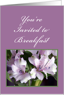 Flowers and Ferns, Breakfast Invitation card