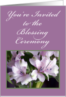 Flowers and Ferns, Blessing Ceremony Invitation card