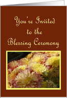 Mums and Burgundy, Blessing Ceremony Invitation card