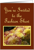 Mums and Burgundy, Fashion Show Invitation card