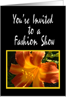 Orange Flower, Fashion Show Invitation card