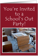 Vintage School Room, School's Out Invitation card