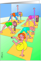 Twisted Yoga : Funny Birthday Card
