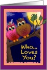 Hope your Valentine's Day is a Hoot! card
