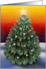 Christmas Tree in Snow card
