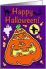 Happy Halloween! With Jack O' Lantern card