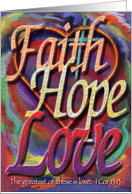 Faith, Hope, and Love card