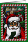 Santa with Candy Cane border card