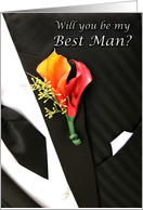 Wedding will you be my best man card