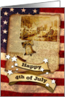 Happy 4th of July, Retro Independence Day card