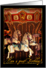 Carousel Horses Birthday card