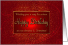 Luxurious Happy Birthday Grandma card