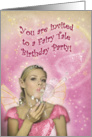 Fairy Birthday Party Invitation card
