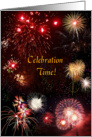 New Year's Fireworks Party Invitation card