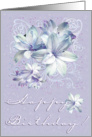 Happy Birthday Purple flowers card