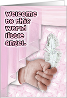 Welcome little angel girl card