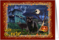 Halloween-Party card