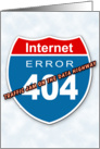 Internet Error 404 card