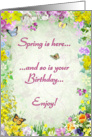 Birthday in Spring card