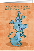 Dog party card