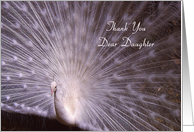 Thank You Daughter - White Peacock card