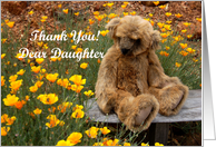 Thank You Daughter - Teddy Bear card