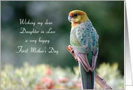 Mother's Day - Daughter in law - First - Western Rosella card