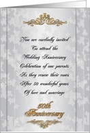 50Th Wedding anniversary invitation vow renewal parents card