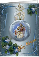 Christmas Nativity ornament elegant card