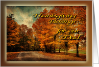 Country Drive in Autumn - Thanksgiving Blessings Our Dad/Father card