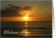 Welcome Home Vacation card