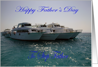 Father�s day for a Step Father, boats card