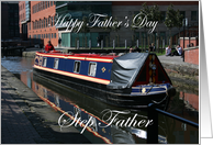 Step Father Father�s day canal boat card