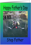 Step Father Father�s day scuba diver card