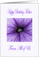 Mother happy birthday from All of Us Blossom card