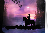 cowboy christmas greeting card
