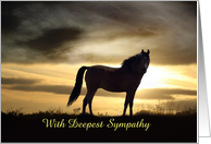Deepest Sympathy, Horse Silhouette in Sunset card